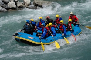 Rafting, Canyoning oder Wasserkraft in den Alpen